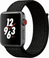 Apple - Apple Watch Nike+ Series 3 (GPS + Cellular), 42mm Space Gray Aluminum Case with Black/Pure Platinum Nike Sport Loop - Space Gray Aluminum