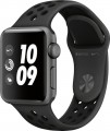 Apple - Apple Watch Nike+ Series 3 (GPS), 38mm Space Gray Aluminum Case with Anthracite/Black Nike Sport Band - Space Gray Aluminum-6215900