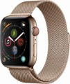 Apple - Apple Watch Series 4 (GPS + Cellular), 44mm Gold Stainless Steel Case with Gold Milanese Loop - Gold Stainless Steel-6139656