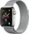 Apple - Apple Watch Series 4 (GPS + Cellular), 40mm Stainless Steel Case with Milanese Loop - Stainless Steel