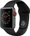Apple - Apple Watch Series 3 (GPS + Cellular), 38mm Space Gray Aluminum Case with Black Sport Band - Space Gray Aluminum-6139708