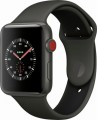 Apple - Apple Watch Edition (GPS + Cellular), 42mm Gray Ceramic Case with Gray/Black Sport Band - Gray Ceramic