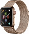 Apple - Apple Watch Series 4 (GPS + Cellular), 40mm Gold Stainless Steel Case with Gold Milanese Loop - Gold Stainless Steel